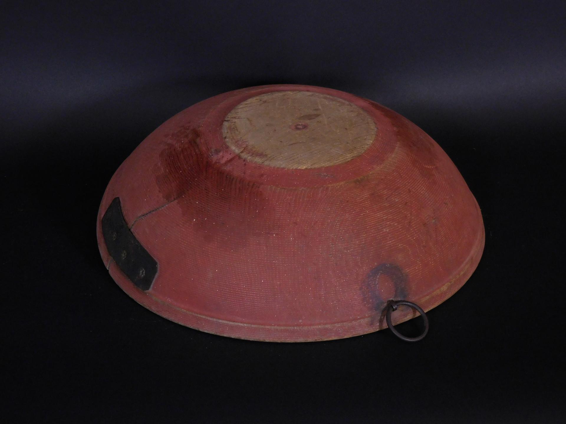 Turned Pine Bowl In Original Red Paint Steven F Still