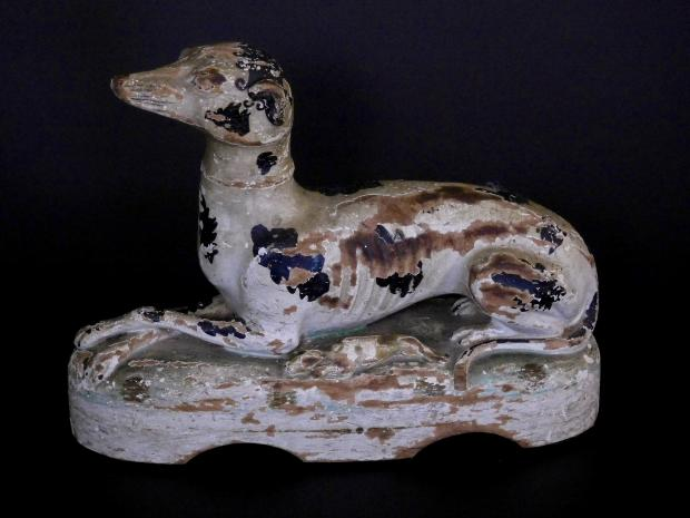 Carved And Painted Whippet