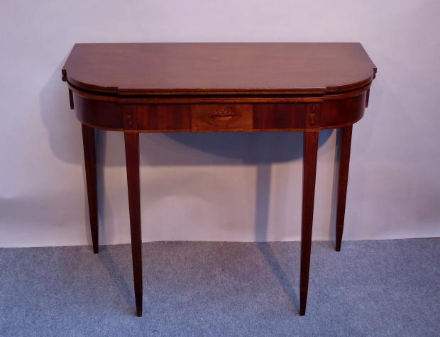 Federal Inlaid Card Table Attributed to William Lloyd