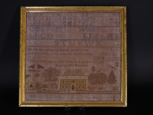 Lydia Beaumont's 1834 Connecticut Sampler