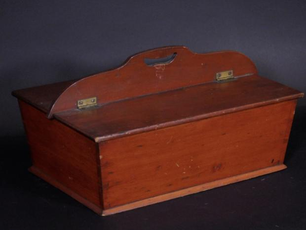 Red Stained Double Lid Knife Box