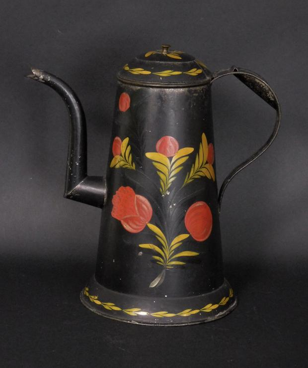 American Painted Tin Coffee Pot
