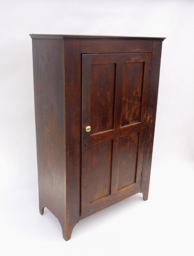 Lancaster County PA Walnut Single Door Cupboard
