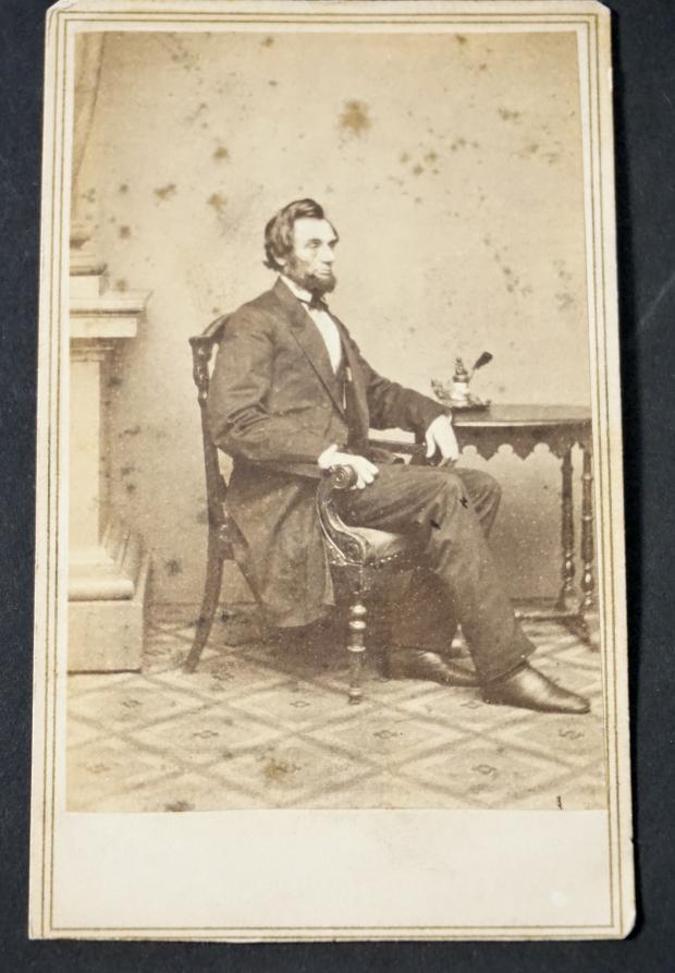 Carte De Visite of Abraham Lincoln