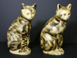 Large Pair OF Chalkware Cats
