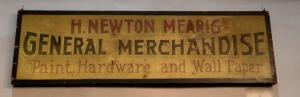 "Wooden Advertising Sign ""H. Newon Mearig"