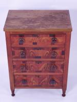 Painted Miniature Sheraton Chest Of Drawers