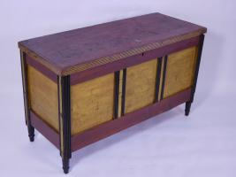 Vibrant Polychrome Painted Blanket Chest