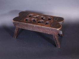 Walnut Folk Art Stool