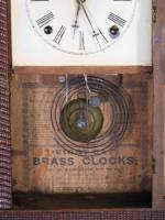 J C Brown Ripple Front Steeple Clock
