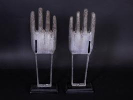 Pair Of Aluminum Glove Molds