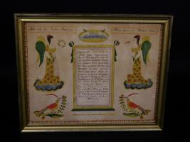 Fraktur Birth Certificate By David Bixler