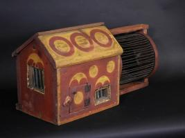Polychrome Painted Squirrel Cage