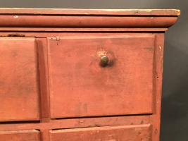 Twenty One Drawer Apothecary Cupboard In Red Paint
