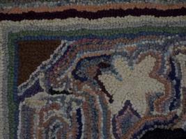 Fine Lancaster County Pictorial Hooked Rug Dated 1927