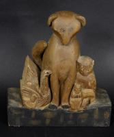 Folk Art Carving Group of Animals