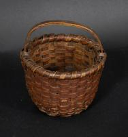 Small Red Painted Splint Basket