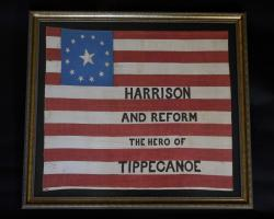 William Henry Harrison 1840 Campaign Flag
