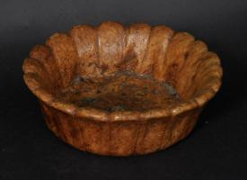 Ash Burl Bowl With Scalloped Edge
