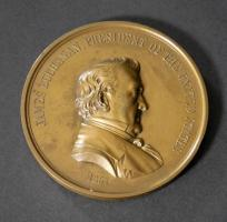 James Buchanan Bronzed Peace Medal Dated 1857