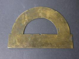 Finely Engraved 18th Century Brass Protractor