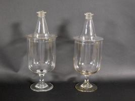 Pair of Free Blown Apothecary Jars