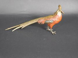 Cold Painted Bronze Pheasant