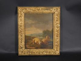 Nineteenth Century Sheep Painting