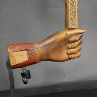 Painted And Carved Hand Form Swift