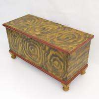 York County PA Yellow Smoke Decorated Blanket Chest
