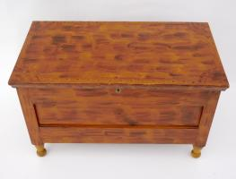 Diminutive Paint Decorated Blanket Chest