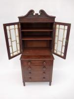 Childs Chest With Carved Secretary Top