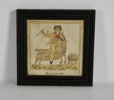 Watercolor Of Tom on his Goat Dated 1831