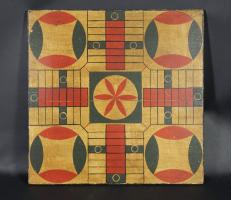 Vibrant Paint Decorated Parcheesi Board