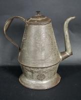 Punch Decorated Tin Coffee Pot