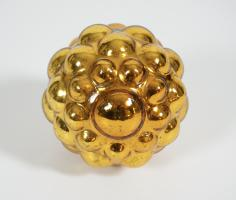 Rare Round Kugel With Raised Half Spheres