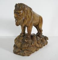 Carved And Painted Lion