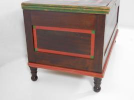 Blanket Chest With Polychrome Geometric Designs