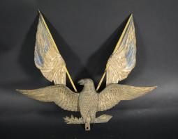 Carved and Polychrome Painted Eagle Plaque