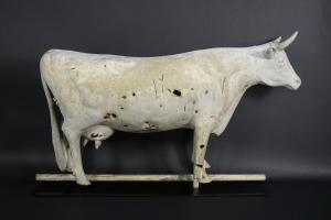Large Full Bodied Cow Weathervane Attributed to J. W. Fiske